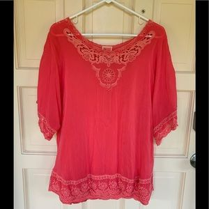 Johnny Was Eyelet blouse